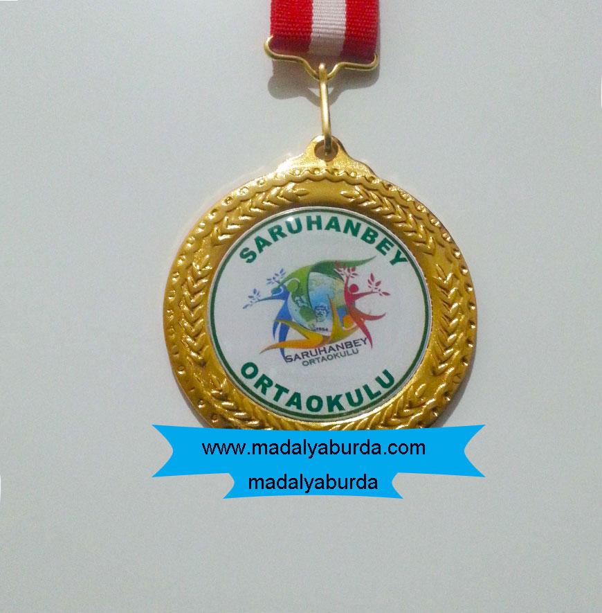 Okul logolu madalya örneği