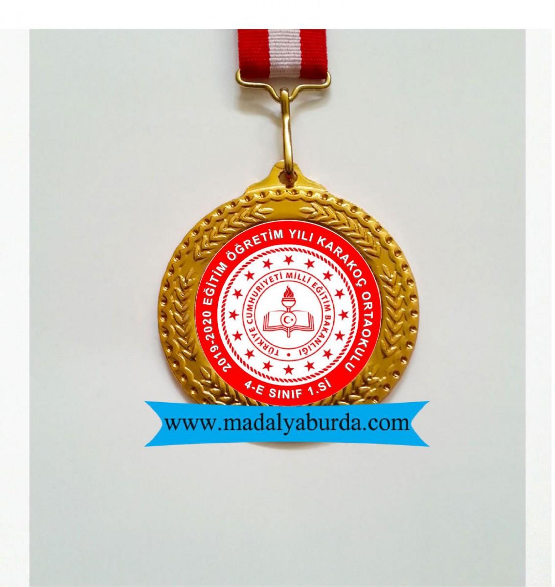 MEB logolu madalya örneği